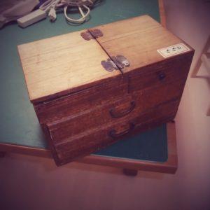 古道具 裁縫箱画像