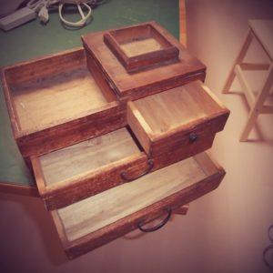 古道具 裁縫箱2画像