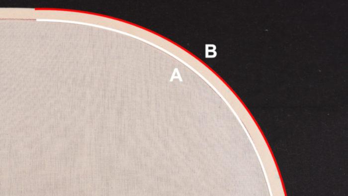 バイアステープの縫製トラブル6選 事例4カーブでの寸法差